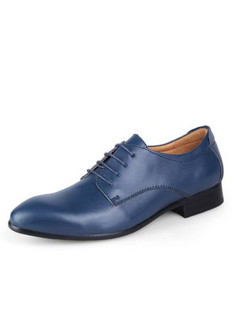 Formal Shoes . Men Two-layer Leather Personality Simple Shoes  -