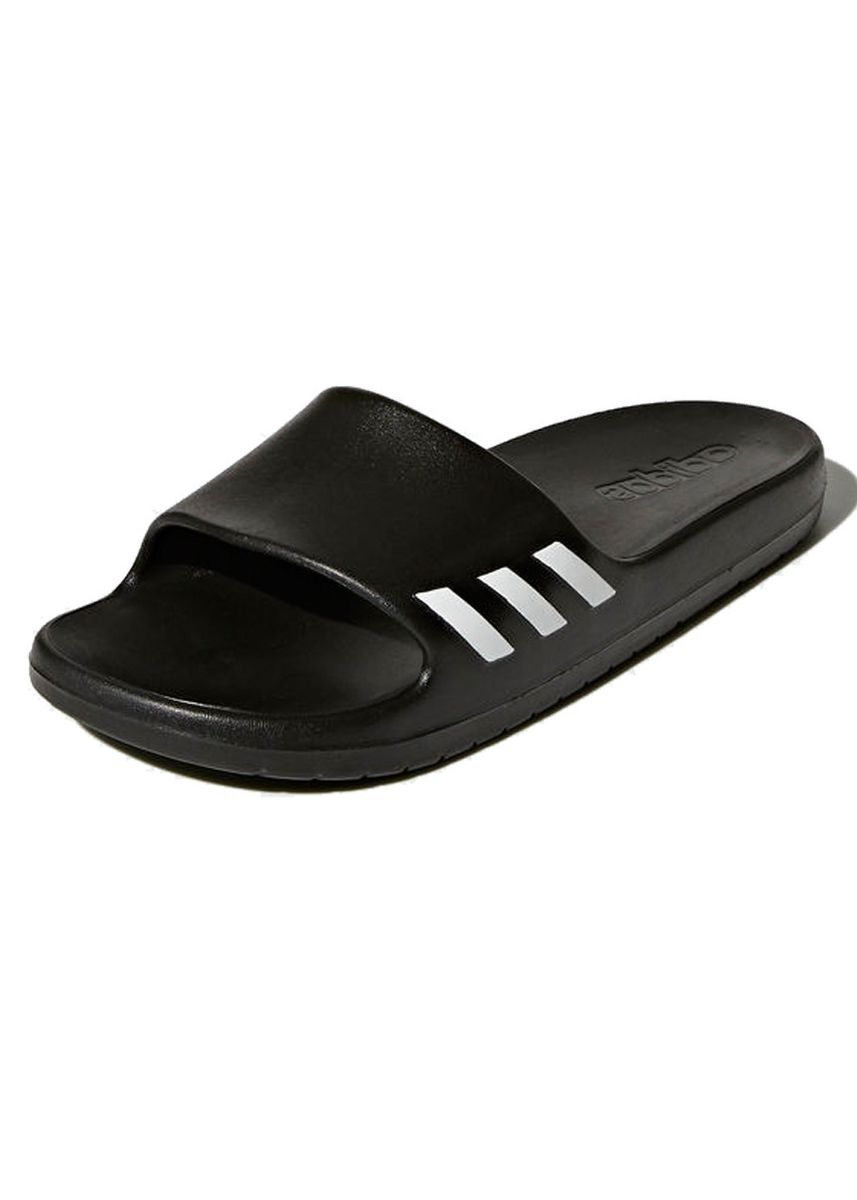 Black color Sandals and Slippers . Adidas รองเท้าแตะ Adidas Aqualette Slides BA8762 (Core Black/Footwear White) -