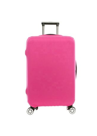 Pink color Travel Wallets & Organizers . FIRST PROJECT - SARUNG PELINDUNG KOPER ELASTIS POLOS LUGGAGE COVER PROTECTIVE SUITCASE SIZE L (26-30 INCH) -