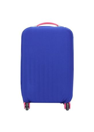 Blue color Travel Wallets & Organizers . FIRST PROJECT - SARUNG PELINDUNG KOPER ELASTIS POLOS LUGGAGE COVER PROTECTIVE SUITCASE SIZE L (26-30 INCH) -