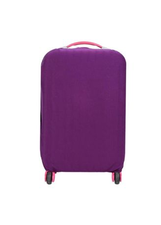 Purple color Travel Wallets & Organizers . FIRST PROJECT - SARUNG PELINDUNG KOPER ELASTIS POLOS LUGGAGE COVER PROTECTIVE SUITCASE SIZE L (26-30 INCH) -