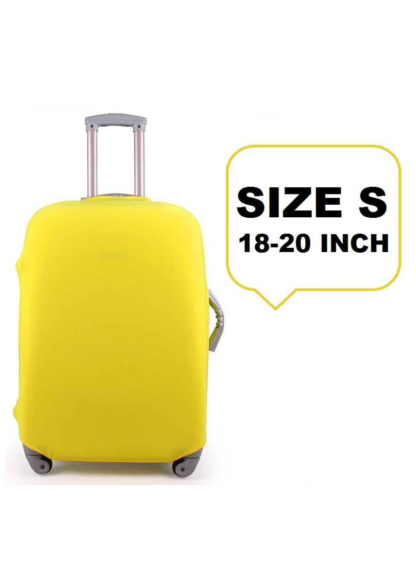 Yellow color Travel Wallets & Organizers . FIRST PROJECT - SARUNG PELINDUNG KOPER ELASTIS POLOS LUGGAGE COVER PROTECTIVE SUITCASE SIZE S (18-20 INCH) -