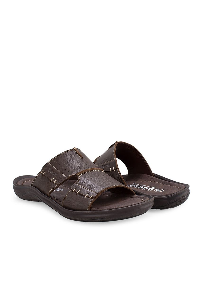 Brown color Sandals and Slippers . Borsa - Samui -