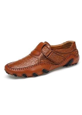 น้ำตาล color รองเท้าลำลอง . Octopus British Wind Business Casual Shoes Men Driving Peas Large Size -