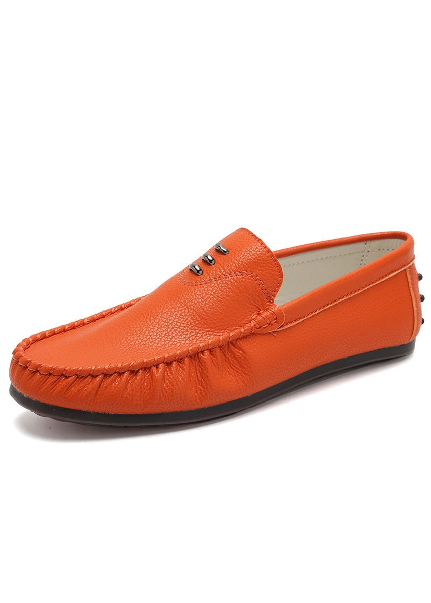 Orange color Casual Shoes . Men's Casual Peas Shoes Trend White Fashion Driving Lazy -
