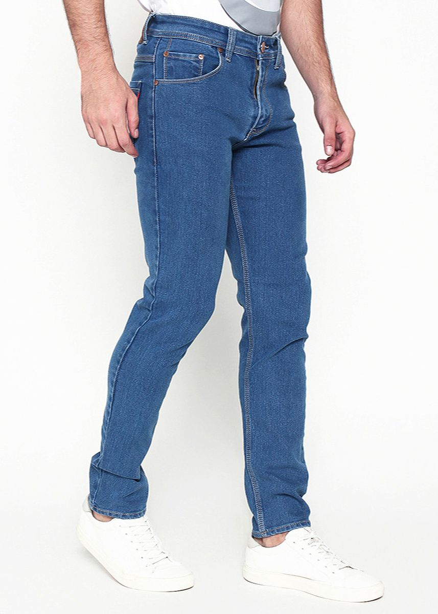 Biru Laut (Sian) color Celana Jeans . 2Nd Red Celana Jeans Koleksi Raw Washed Denim Slim Fit 133253 -133254 -
