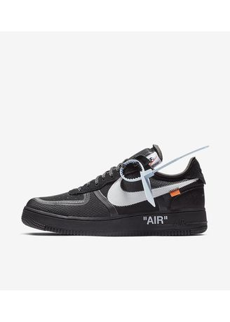 Black color Casual Shoes . Nike x Off White Air Force 1 Black -
