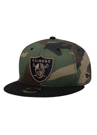 4730ce892ae New Era Oakland Raiders NFL Woodland Camo Black 9FIFTY Cap
