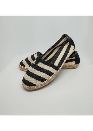 Black color Sandals and Slippers . Flat Maria Jailhouse Rock Espadrilles -