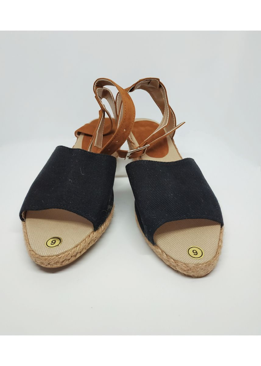 Black color Sandals and Slippers . Flat Maria Catalan Black Wedges -