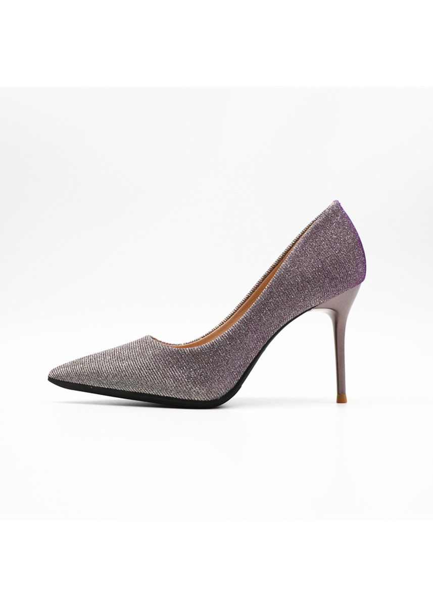 Purple color Heels . Gradient Sequins High Heels Pointed Shallow Mouth -