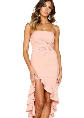 Pink color Dresses . Ruffled Women's Dress -