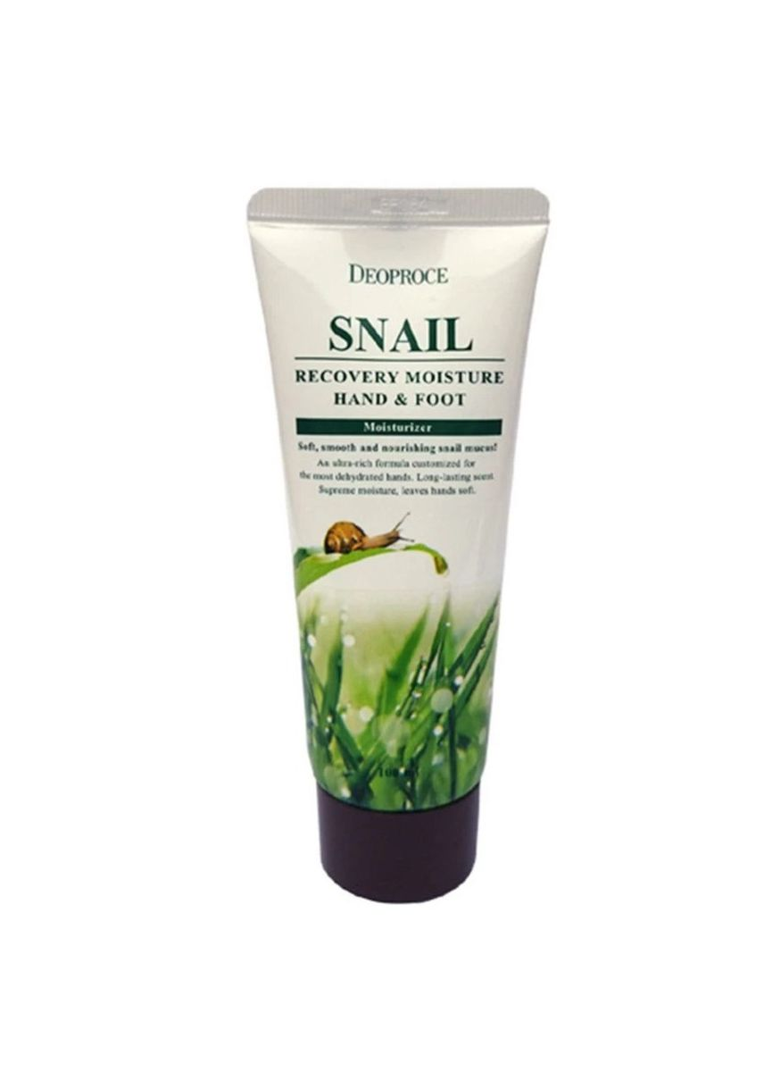 No Color color Moisturizers . Deoproce ครีมทามือและเท้า Snail Recovery Hand & Foot รุ่น MSK-HF2557 100 มล. -