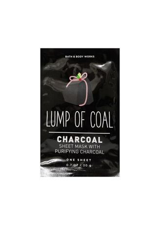 No Color color Serum & Treatment . Bath and Body Works Lump of Coal Charcoal Sheet Mask 20g -