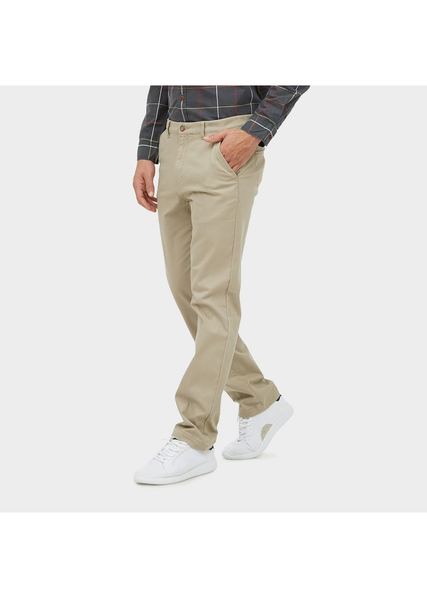 Khaki color Casual Trousers and Chinos . EMBA CLASSIC Men's Pants, Sagiv Chinos Pants in Khaky -