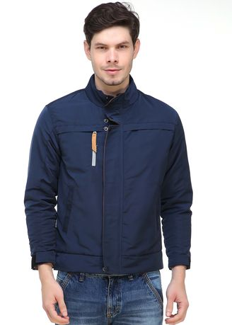 Navy color Outerwear . Jaket waterproof Treasted navy -