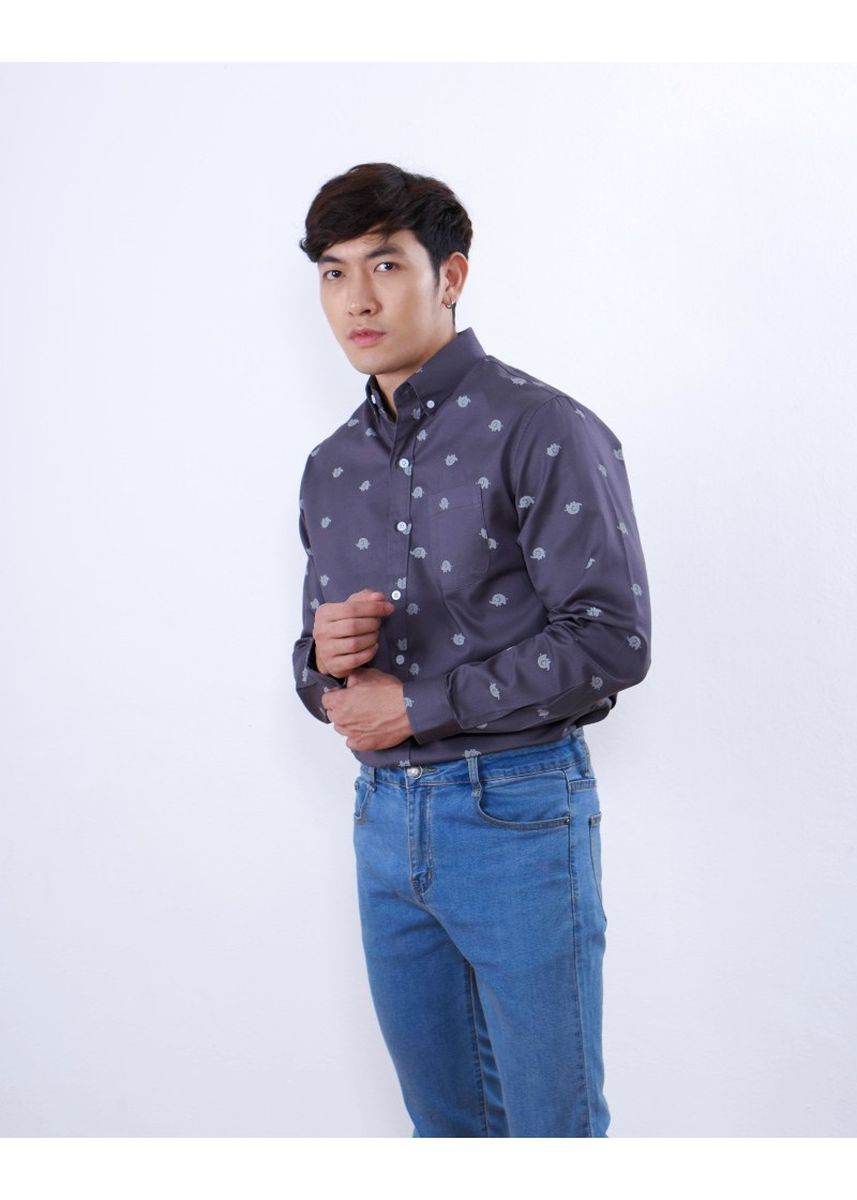 Grey color Formal Shirts . Quattro - Elephants -