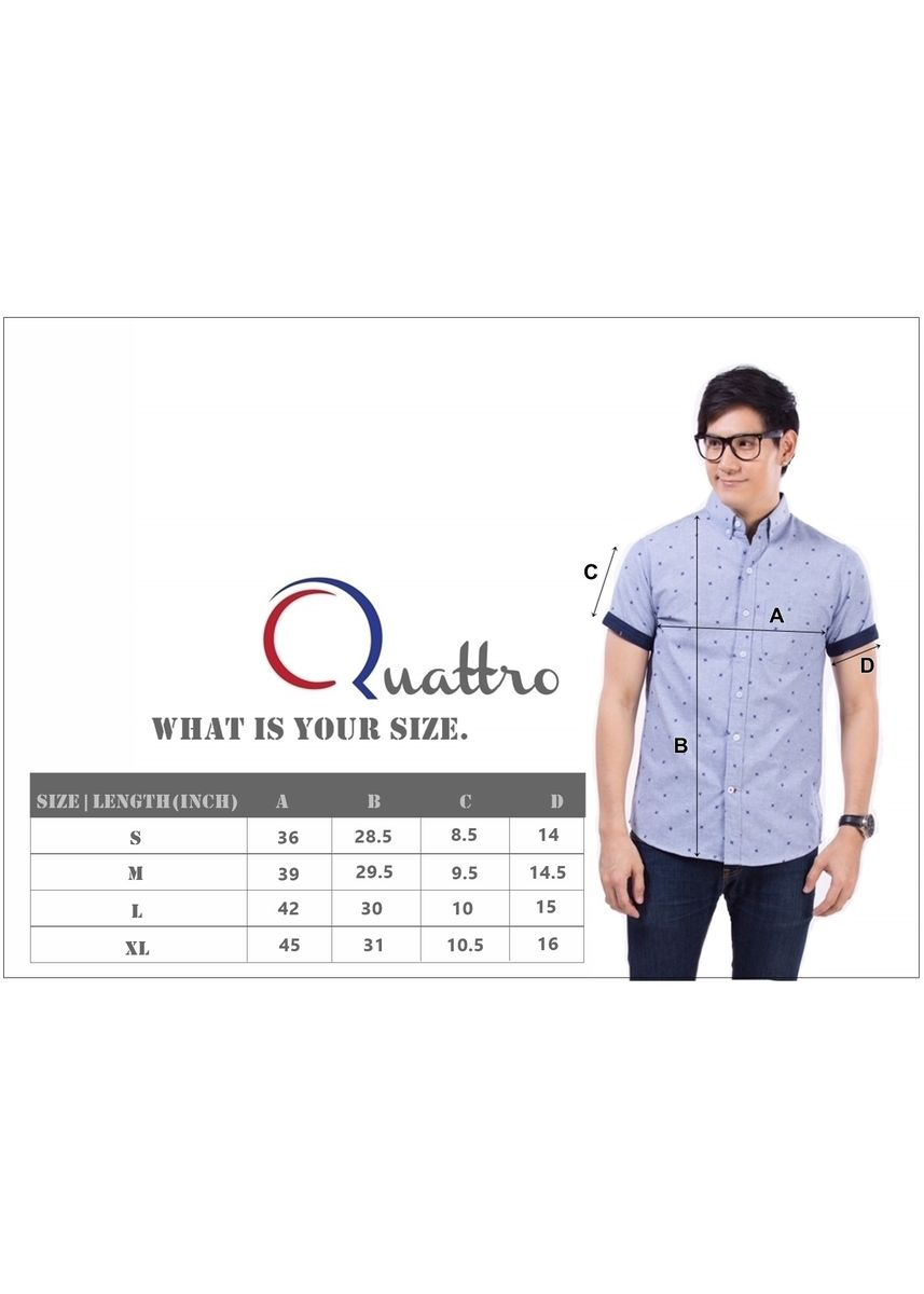 Grey color Formal Shirts . Quattro - Grey Maps -