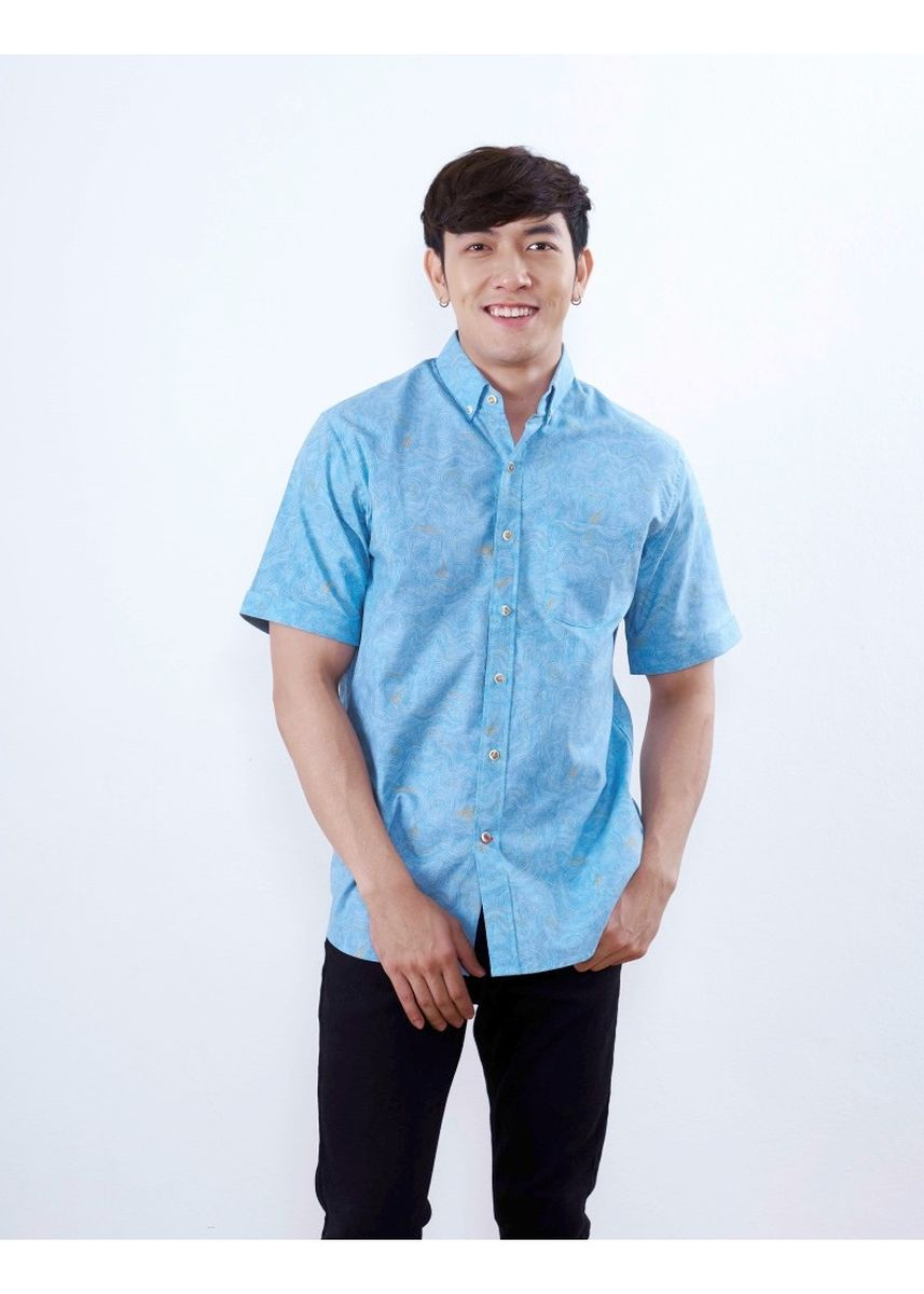 Green color Formal Shirts . Quattro - Graphic -