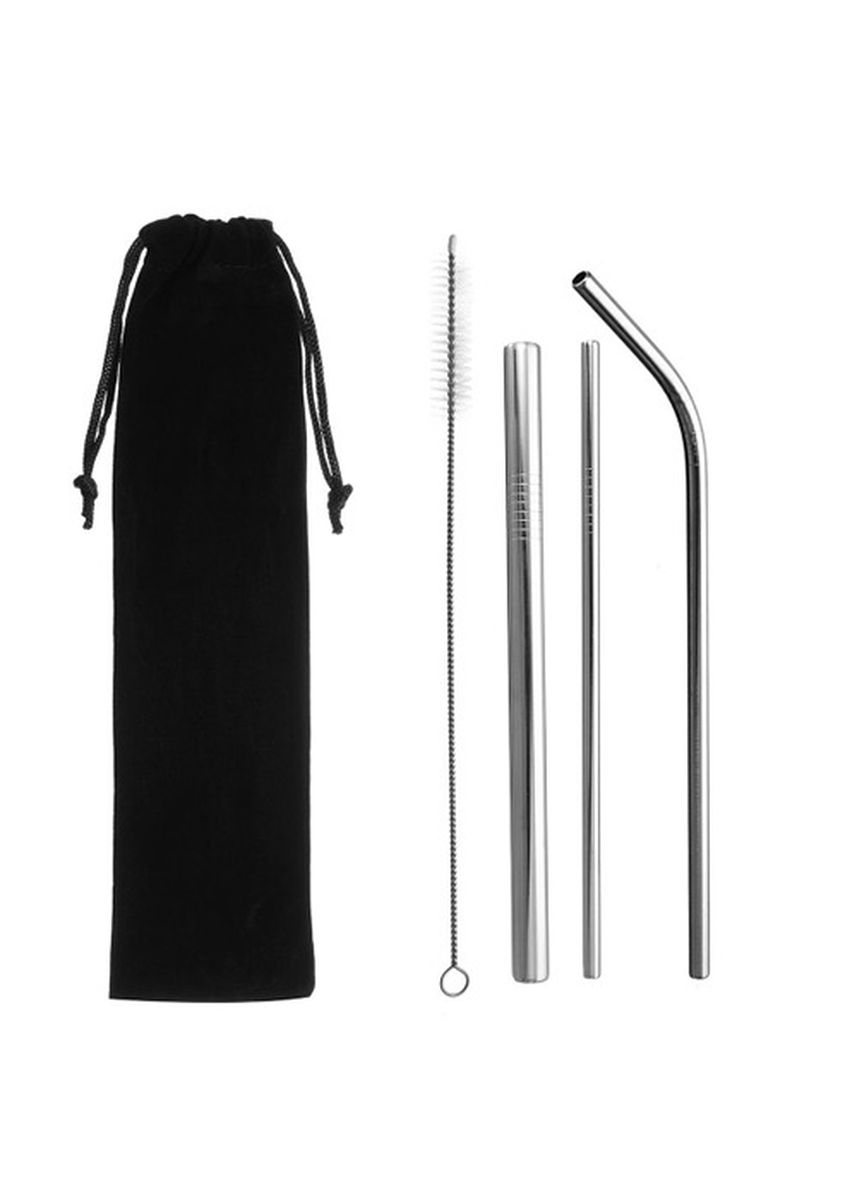 Silver color Barware . Ilahui Stainless Metal Straw -