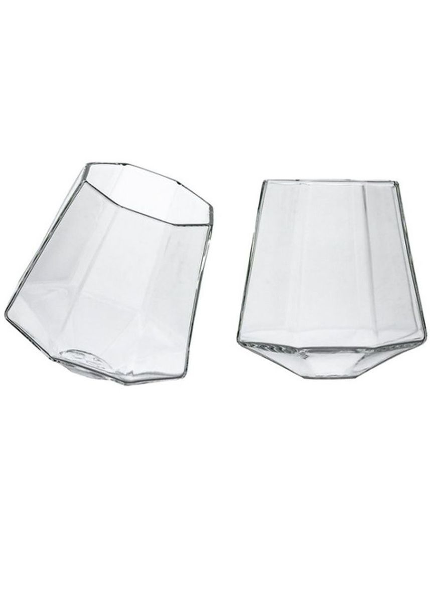 No Color color Barware . Diamond Whiskey Glasses (6 In A Set) -