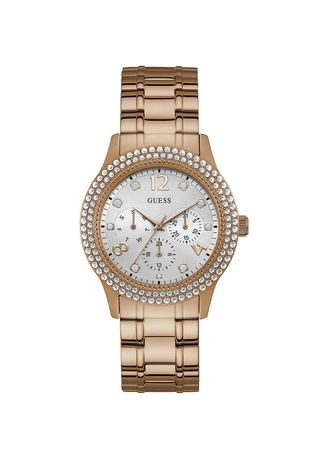 . GUESS นาฬิกาผู้หญิง  Bedazzle Analog Silver Dial Ladies Watch W1097L3 -