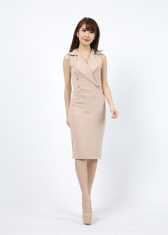 Khaki color Dresses . Dress Hani -