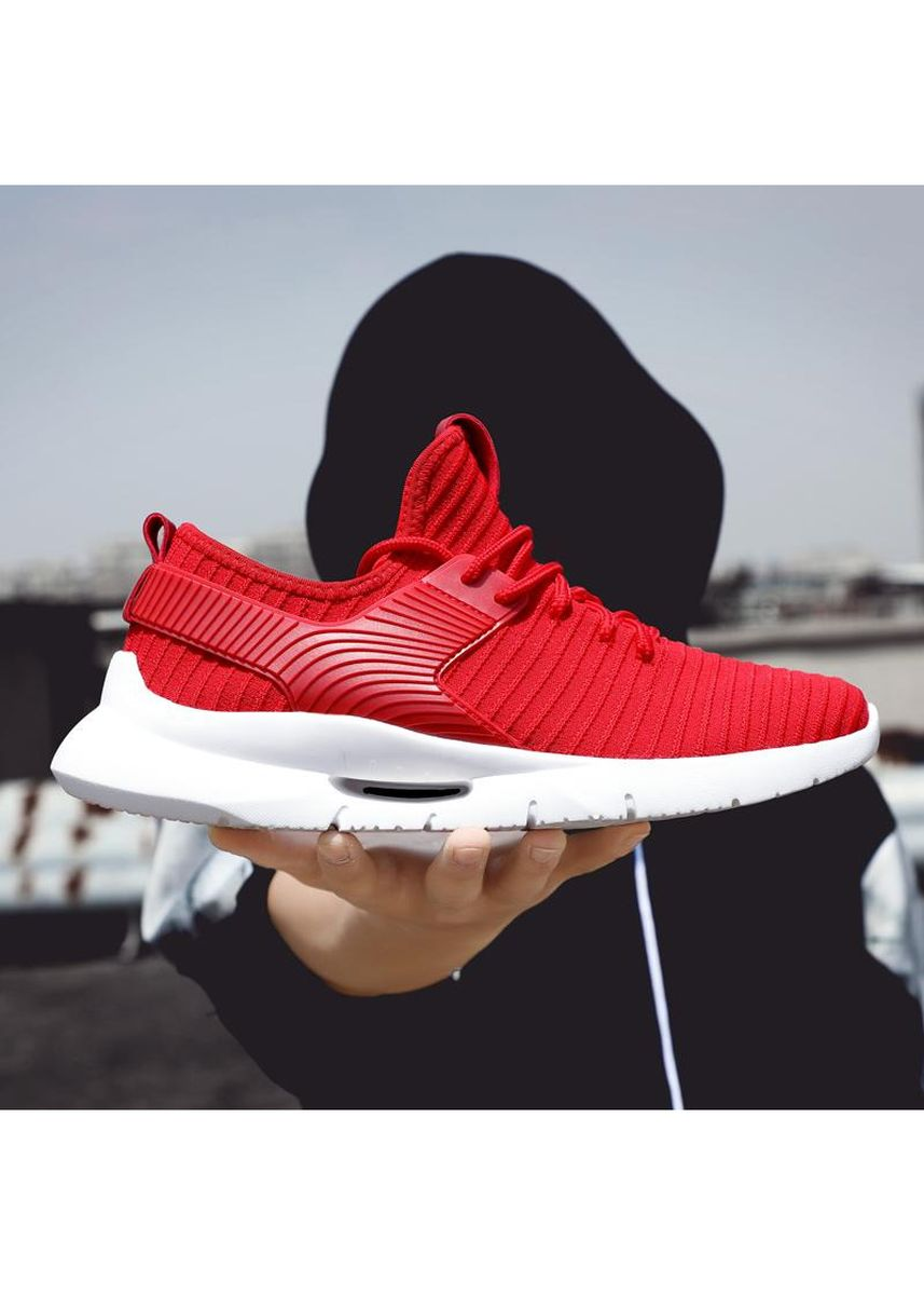 Red color Sports Shoes . Fashion Men sneakers shoes -
