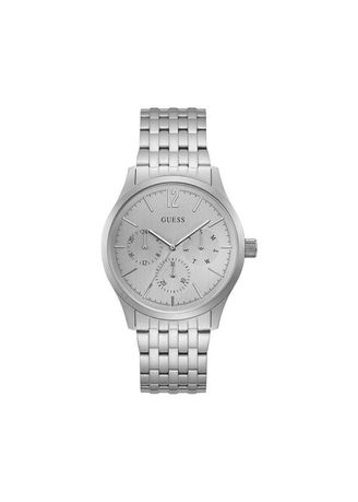 Silver color Chronographs . GUESS นาฬิกาผู้หญิง  Multifunction Stainless Steel Bracelet Ladies Watch W0995G1 -