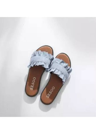 Blue color Sandals and Slippers . รองเท้าเเตะ Dolly  -