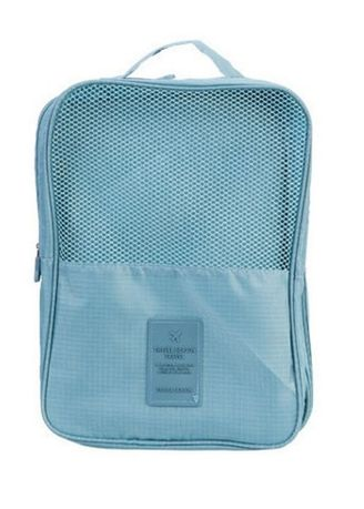 Light Blue color Travel Wallets & Organizers . Shoes Storage Bag -