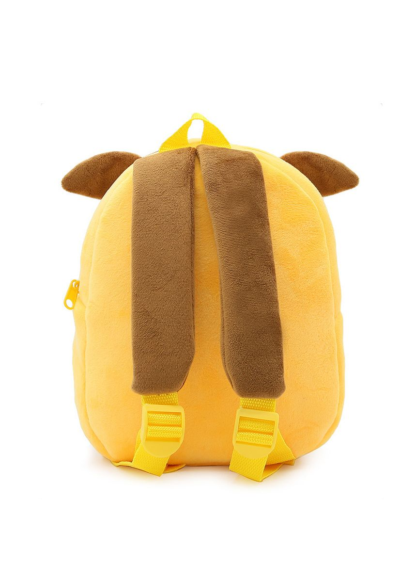 เหลือง color กระเป๋า . Kawaii Cartoon Doggy Plush School Bags Children Boys Girls Cute Animal Backpack -