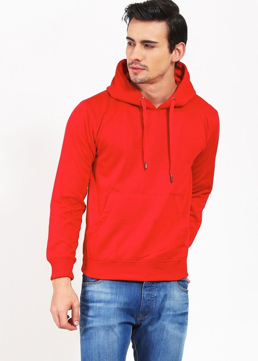 Red color Outerwear . LoganStyle Jaket Hoodie Jumper Polos Pria  -