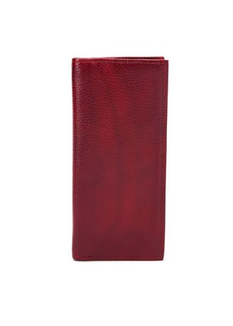 Red color Wallets and Clutches . McJim Leather Long Wallet (WLTF27-CL99-11) -