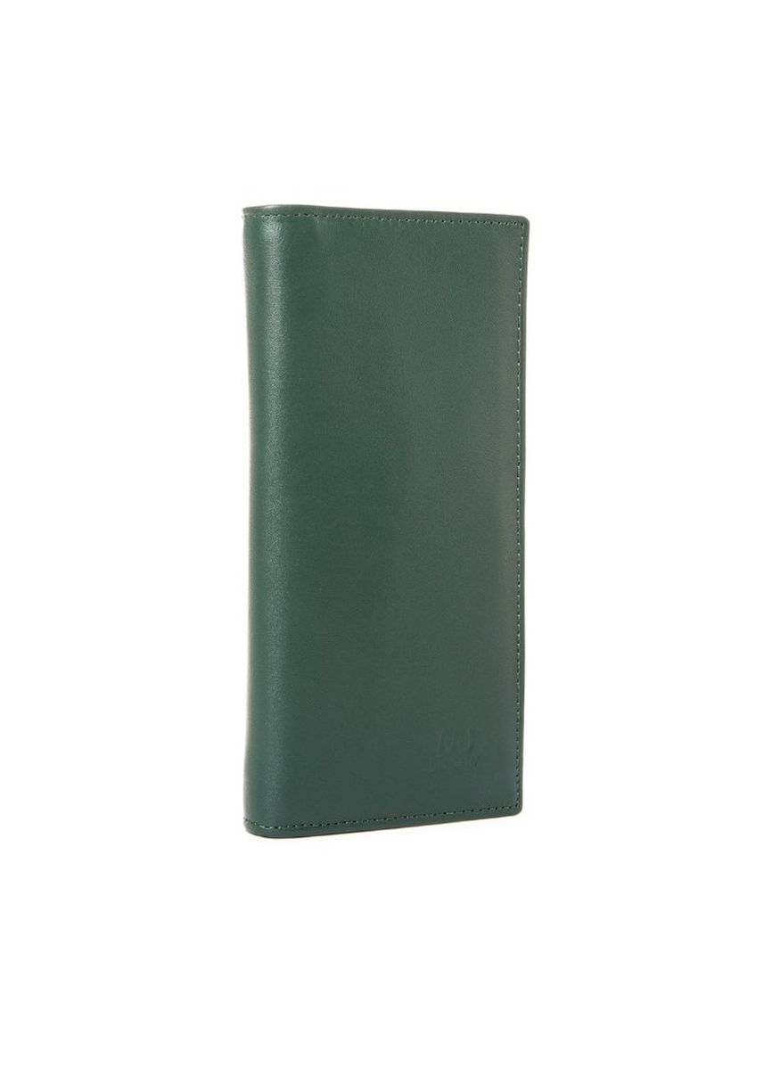 Green color Wallets and Clutches . McJim Leather Long Wallet With Snap Button (WLTF27-CL99-07) -