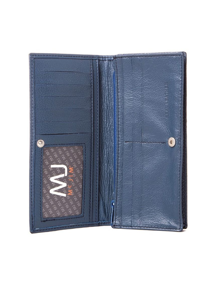 Blue color Wallets and Clutches . McJim Leather Long Wallet With Snap Button (WLTF28-CL99-06) -