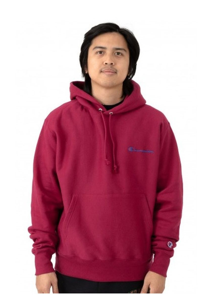 Red color Jackets . Champion Script Champion Wording Pullover Hoodie -
