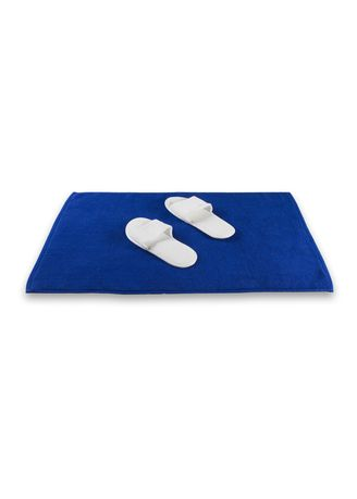Blue color Bathroom . Indolinen Bath Mat Keset Handuk Antiselip -