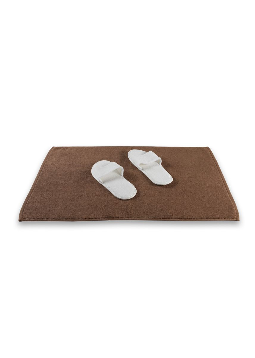 Brown color Bathroom . Indolinen Bath Mat Keset Handuk Antiselip -