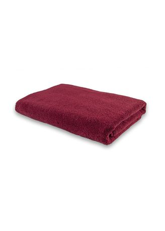 Maroon color Towels . Indolinen Bath Towel Handuk Mandi Putih -