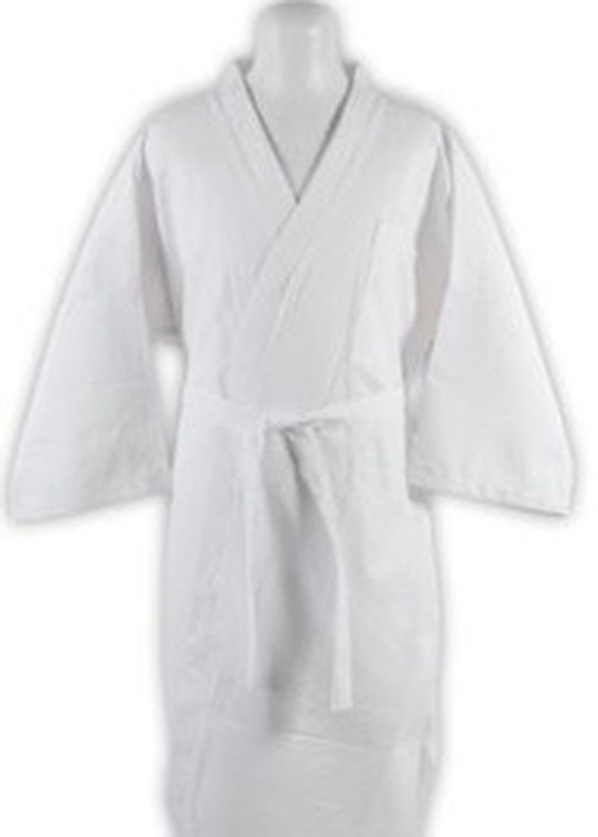 White color Towels . Indolinen Bathrobe Handuk Kimono Coklat Muda -