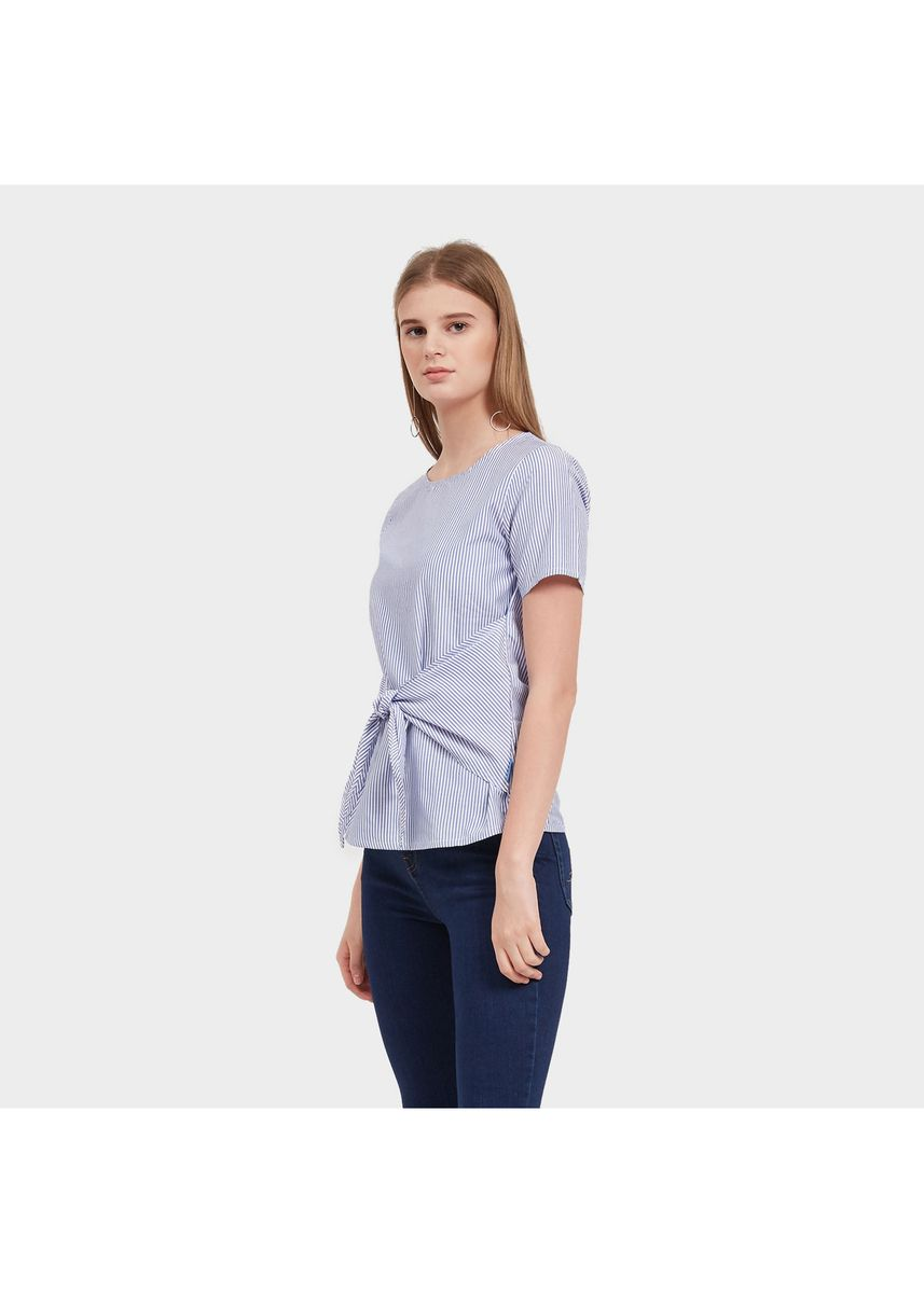 Biru color Atasan & Tunik . Morphidae Jolyn Woman Blouse Warna Blue -