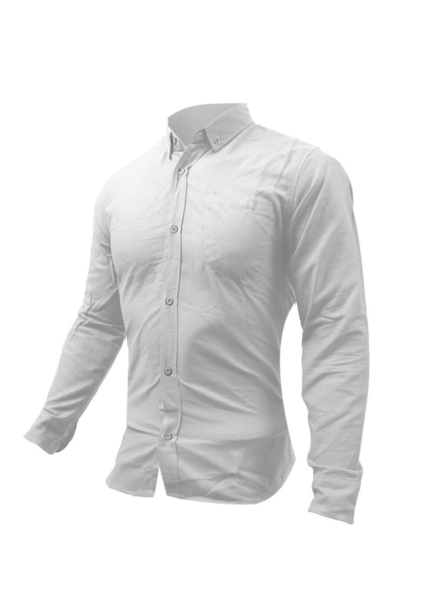 White color Formal Shirts . Eight Piece - KEMEJA KENCO LENGAN PANJANG SLIMFIT -