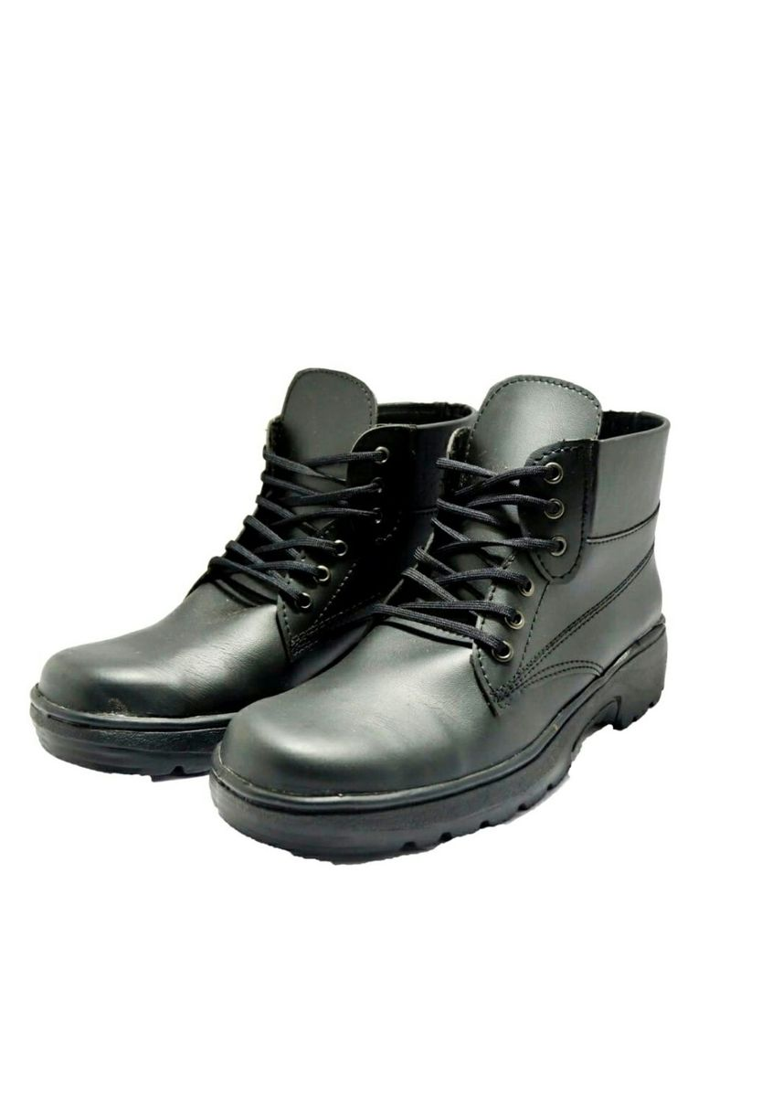 Brown color Boots . sepatu safety boots outdoor proyek motorist noname brand lokal trendy indonesia -