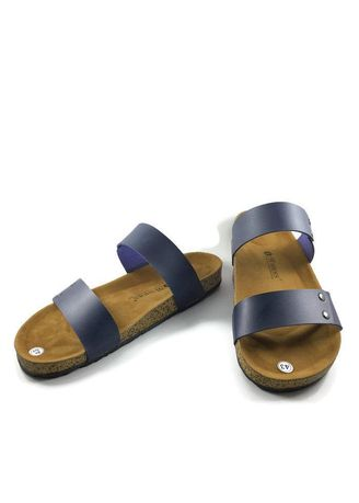Navy color Sandals and Slippers . Sandal Kulit Pria 91Shoes G Navy -