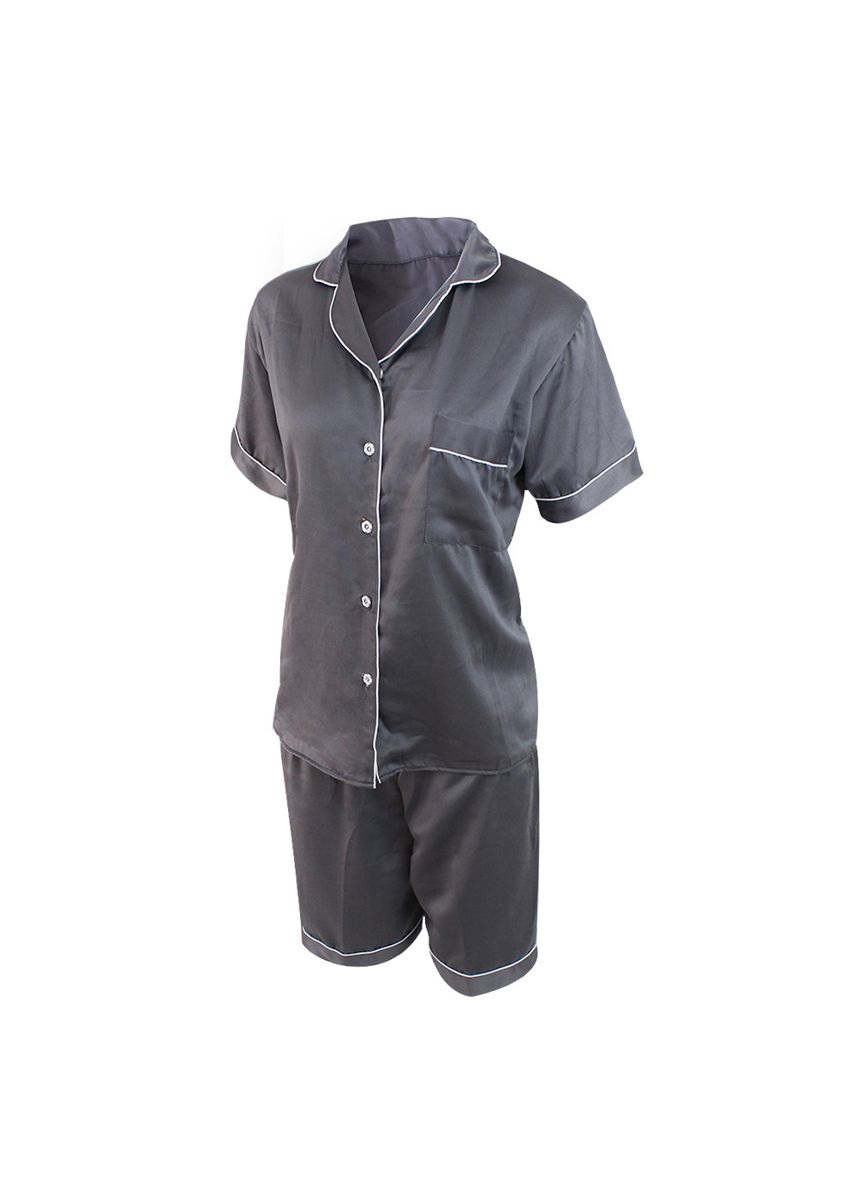Grey color Pyjamas . Eight Piece - Piyama Sleepwear Lengan Pendek -