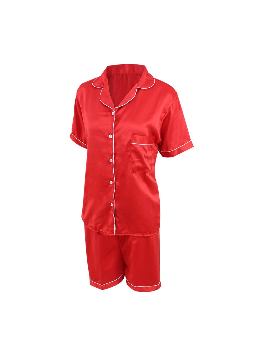 Red color Pyjamas . Eight Piece - Piyama Sleepwear Lengan Pendek -