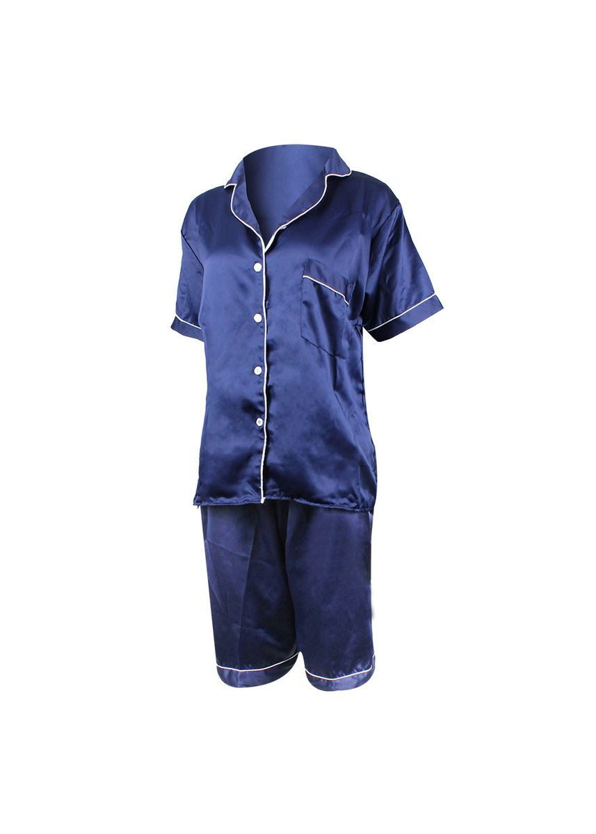 Navy color Pyjamas . Eight Piece - Piyama Sleepwear Lengan Pendek -