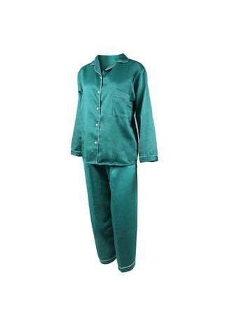 Green color Pyjamas . Eight Piece - Piyama Lengan Panjang -