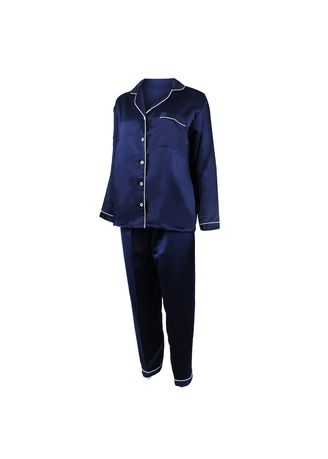 Navy color Pyjamas . Eight Piece - Piyama Lengan Panjang -